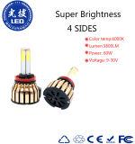 360 4 Selbst-LED Scheinwerfer der Seiten-der Birnen-H11 des Auto-LED