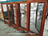 [فوشن] صاحب مصنع [هيغقوليتي] حبة خشبيّة [ألومينوم ويندوو] مع ناموسة شاشة