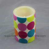 Small Elegant Portable Wholesale Camping Decorativo Brilhante Cute LED Pillar Candle