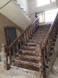Azulejo de suelo de piedra de mármol colorido ampliamente utilizado de Riverstones de la venta caliente
