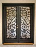 Moderne Stahlgitter-Entwurfs-Haupteingangs-bearbeitetes Eisen-Tür