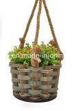 Корзина цветка деревянной щепки вися для садовничать