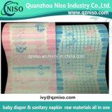 Folha da parte traseira do Nonwoven da película da laminação do PE de China para o tecido do bebê para a venda