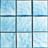 질 파란 색깔 디자인을%s 가진 정연한 수영풀 유리제 모자이크