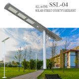 Diodo emissor de luz ao ar livre solar do poder superior da luz de pólo da rua da lâmpada do sensor elevado antigo do lúmen