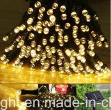 las funciones de la batería solar 100LED 8 del 12m encienden la cadena para la decoración al aire libre