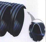 Stahlriemen verstärktes HDPE gewölbtes Rohr für Drainnage