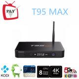 지원 HD 1080P 4k 출력 매체 선수 T95 최대 S905 2g 32g 쿼드 코어 인조 인간 5.1 텔레비젼 상자 Kodi16.0
