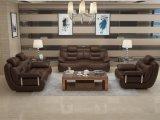 Sofá de mobiliário moderno para mobiliário doméstico em couro para móveis de sala de estar