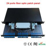 """19 """" 24 tipos fijos montados estante portuario el panel de corrección óptico de fibra"""