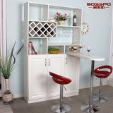 居間の家具の白いペンキの固体木のワインのキャビネット(GSP9-054)