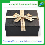 El chocolate impreso aduana de la joyería encajona el rectángulo de empaquetado del regalo de papel de la Navidad