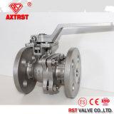 O CS 2PC do ANSI 150lb Ss/flangeou válvula de esfera com a almofada de montagem ISO5211