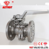 ANSI 150lb Ss / CS 2PC válvula de bola con brida con ISO5211 Pad de montaje