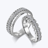 De originele Holle Ingelegde Ringen van het Paar van de Diamant