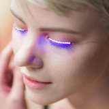 Pestañas interactivas de los flashes brillantes LED de las pestañas falsas del LED