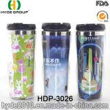 doppel-wandige Kaffeetasse des niedrigsten Preis-450ml, Arbeitsweg-Becher mit Papiereinlage (HDP-3026)