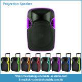 12 pouces Plastic Powered DJ Boîtier haut-parleur Bluetooth avec projecteur