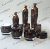 Bottiglia acrilica di cristallo impaccante cosmetica del vaso del Brown di nuovo arrivo (PPC-CPS-079)