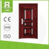 Puerta exterior doble de lujo del acero de la seguridad del precio bajo de la alta calidad del diseño sola
