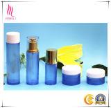Cosmético de alumínio do frasco de vidro de tampa