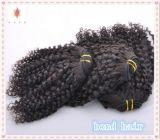 capelli brasiliani di Remy del Virgin dei capelli del grado 5A/tessuto crespo dei capelli ricci
