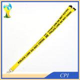 印刷の警告のスローガンのロゴの黄色の締縄