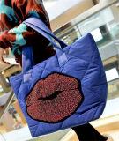 Algodão material de nylon acolchoado em grande escala da manta do pacote, inverno Shoulderbag
