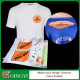 Etiqueta engomada de la película del traspaso térmico del precio de fábrica de Qingyi para la ropa