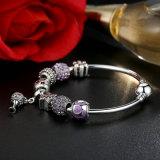 Openwork Inner-Charme-Armbänder mit purpurrotem Kristall bördelt Armbänder u. Armbänder für Frauen-Schmucksachen