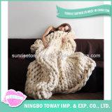 Cobertor acrílico Hand Knitted personalizado novo de lãs do Crochet