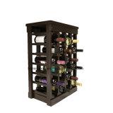 Estantería antigua amontonable de la visualización de la bodega del estante de madera del vino