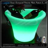 원격 제어 재충전용 LED에 의하여 점화되는 포도주 얼음 양동이
