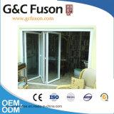 Puerta de plegamiento de aluminio del nuevo estilo moderno con el vidrio Tempered doble