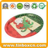 食糧フルーツのための円形の金属のサービングの錫の皿