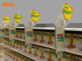Gewölbtes Papier-Bildschirmanzeige-Pappfußboden-Ausstellungsstand für Förderung