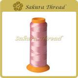 100%年の布のためのポリエステルによって回されるヤーンか衣服または帽子または袋