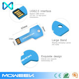 Movimentação de alumínio personalizada do flash do USB da chave da memória do presente