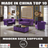 Sofa mou moderne de tissu de bâti en bois de meubles de salle de séjour
