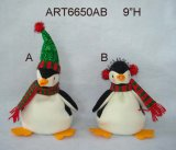 """ ornamento Penguin-3 dell'albero di Natale di H 5 Assorted"