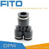Accessorio per tubi pneumatico di modo di tipo tre di Y per il connettore veloce