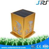 lâmpada fixada na parede solar do diodo emissor de luz do estilo de China da cerca ao ar livre da fonte de alimentação de DC 3.5wp