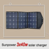 Sunpower Portable Camping 120W Flexible Solar Panel Charger