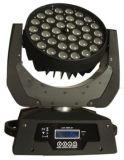 iluminação barata principal movente do estágio do diodo emissor de luz do zoom de 36X10W RGBW
