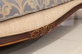 Sofà antico americano del tessuto dello strato classico del salone con l'insieme della Tabella