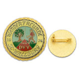 High Quality Enamel Gold Button Tin Badge