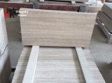 Mattonelle di marmo bianche di legno per il rivestimento parete/del pavimento