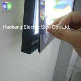 Cornice magnetica che fa pubblicità alla casella chiara della visualizzazione LED con alluminio