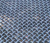 Galvanisierter quetschverbundener Flachmaschendraht/vibrierender Bildschirm-Tuch