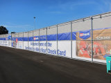 Publicité Barricade Construction Fence Graphics Mesh Banner
